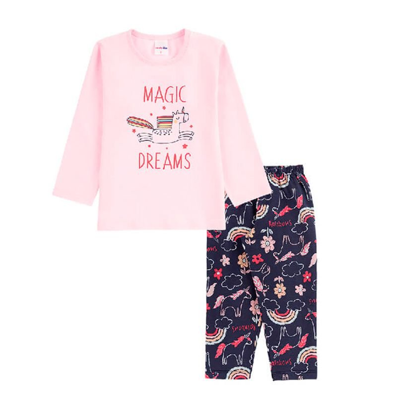 Pijama Magic Dreams Infantil Menina Candy Kids Rosa