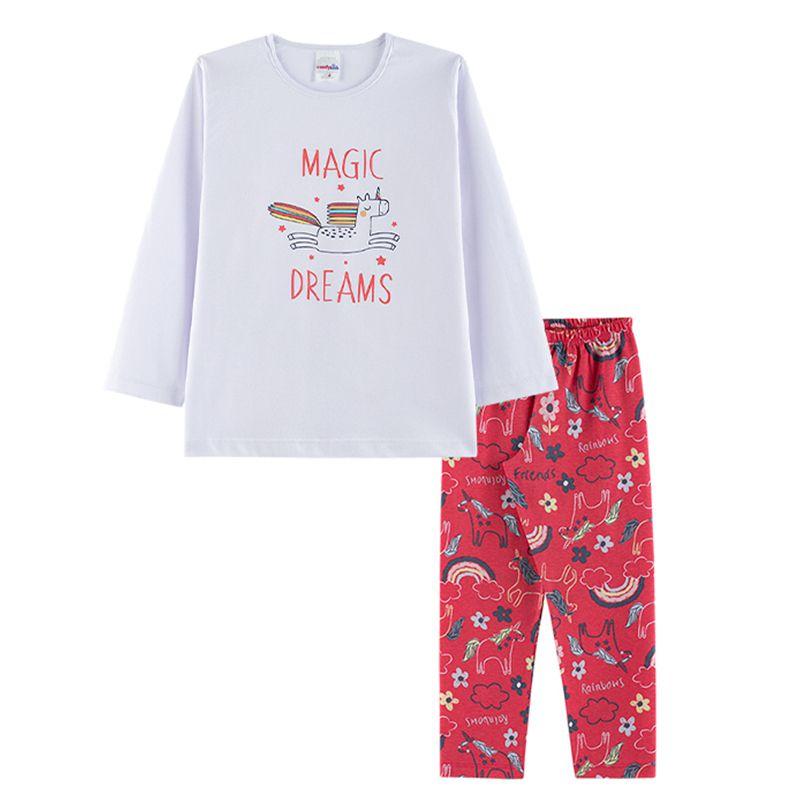 Pijama Magic Dreams Infantil Menina Candy Kids Branco
