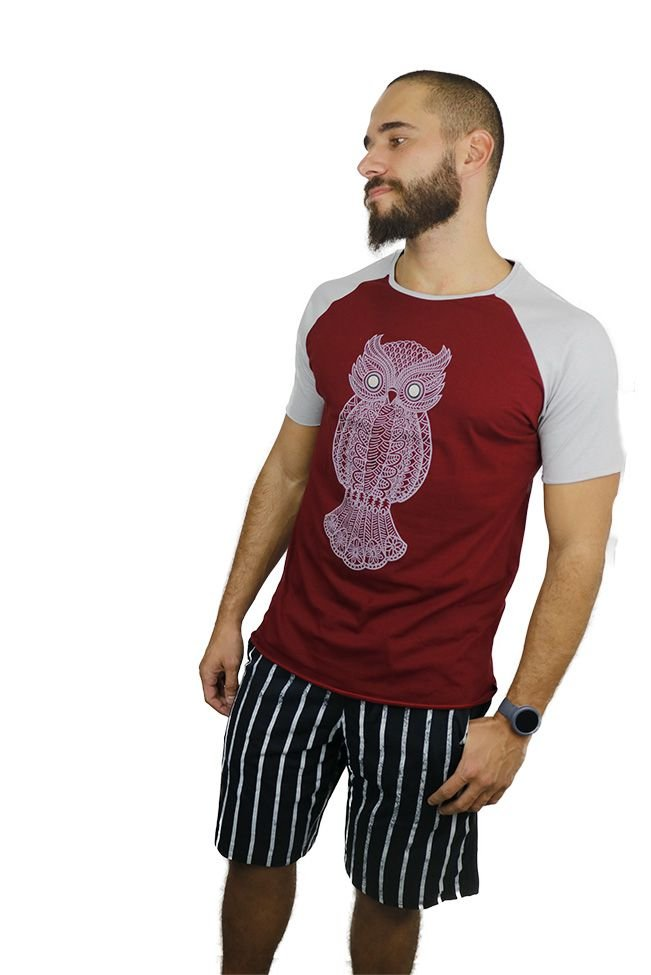 T-Shirt Owl Wine