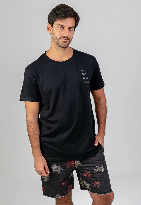 T-shirt On the road preto