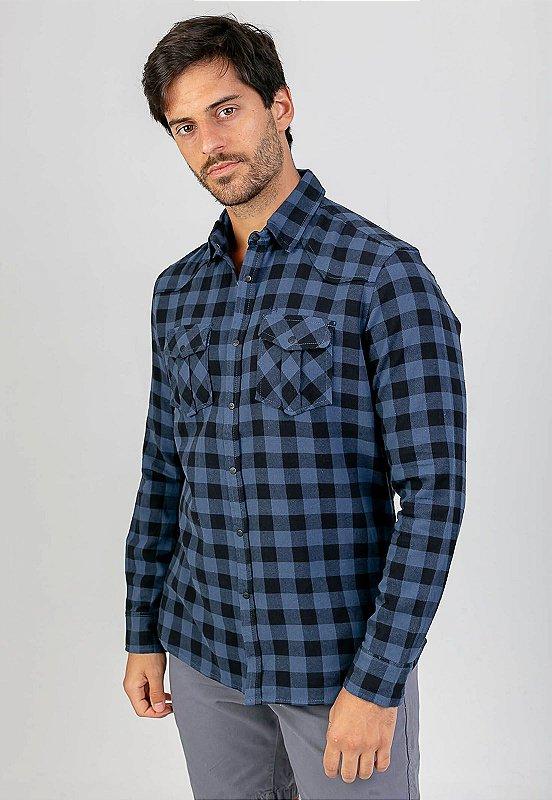 Camisa Lyla Xadrez Melty Azul
