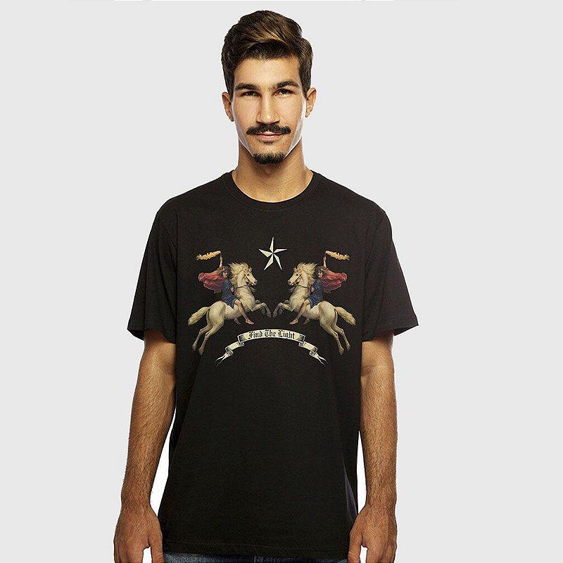 Camiseta Masculina Preta Manga Curta Valkirias Hardivision