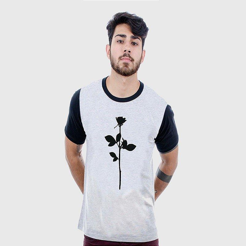 Camiseta Masculina Cinza Manga Curta Silence Hardivision