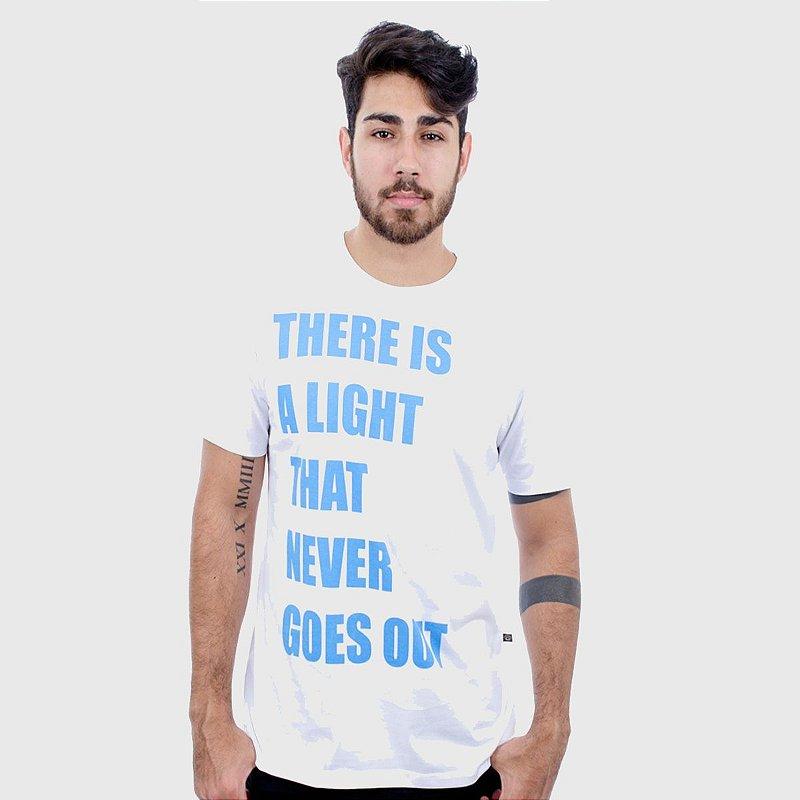Camiseta Masculina Branca Manga Curta Light Hardivision