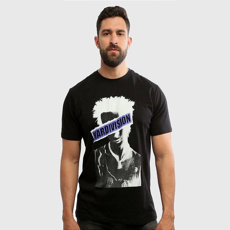 Camiseta Masculina Preta Manga Curta Sid Hardivision