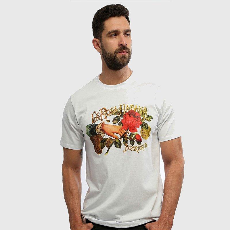 Camiseta Masculina Branca Manga Curta Cuba Hardivision
