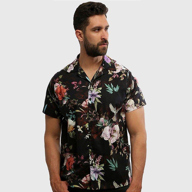 Camisa de Botão Manga Curta Estampada Eden Hardivision
