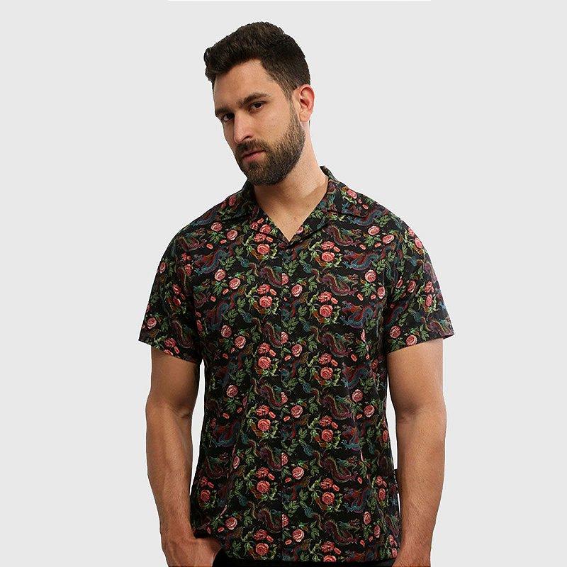 Camisa de Botão Manga Curta Estampada Chinatown Hardivision