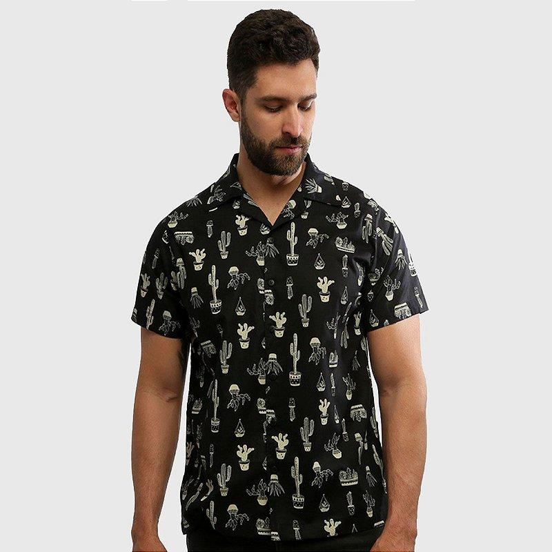 Camisa de Botão Manga Curta Estampada Arizona Hardivision