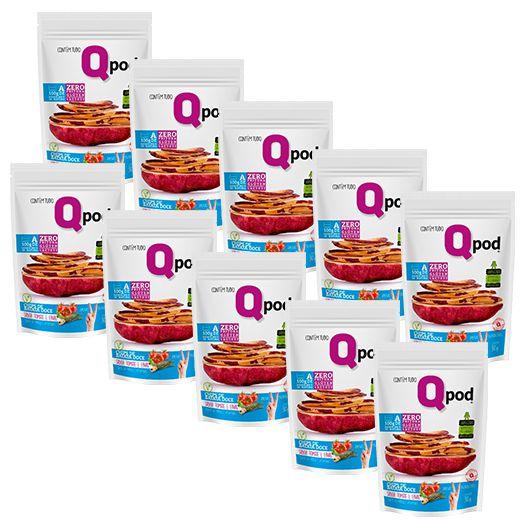 Combo 10 unidades - Chips de Batata Doce - Sabor Tomate e Ervas