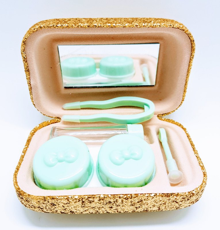Case para lentes de contato -Glitter