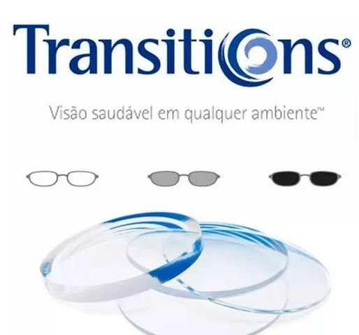 Lente poli Transitions +4 /- 4 cil até -2 /com ar