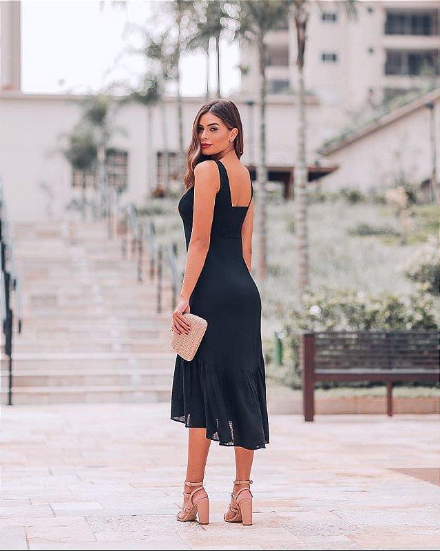 Vestido Maya ALÇA PRETO