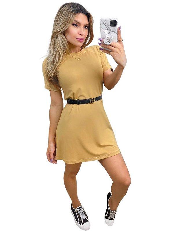 Vestido Moletinho Ragla Fernanda Nude