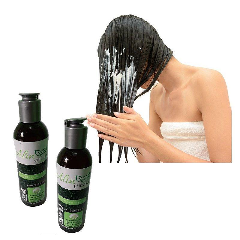 Kit Cuidados Perfeitos - Shampoo e Creme de Pentear sem Enxague - Vegano - Linha Amazonia