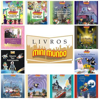 Coleção de Livros Mini Mundo