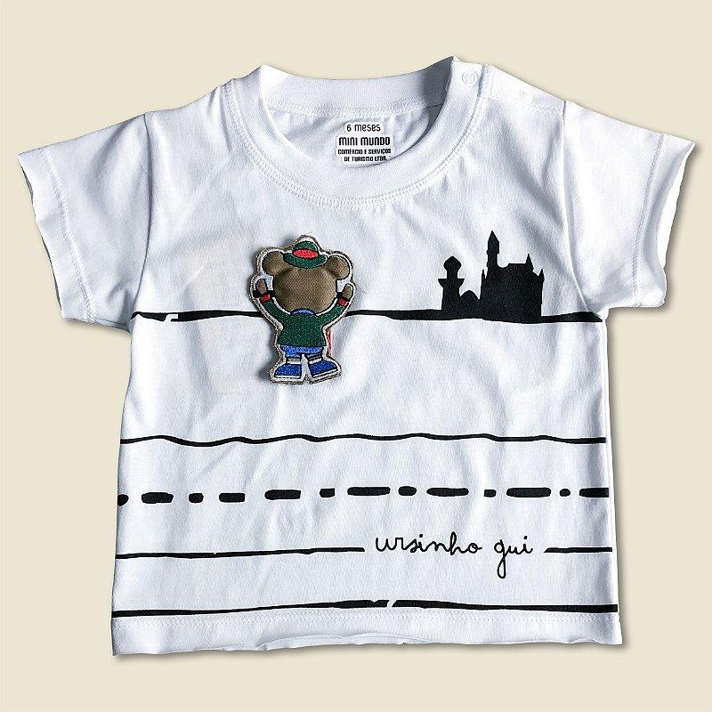 Camiseta Aplique Ursinho Gui