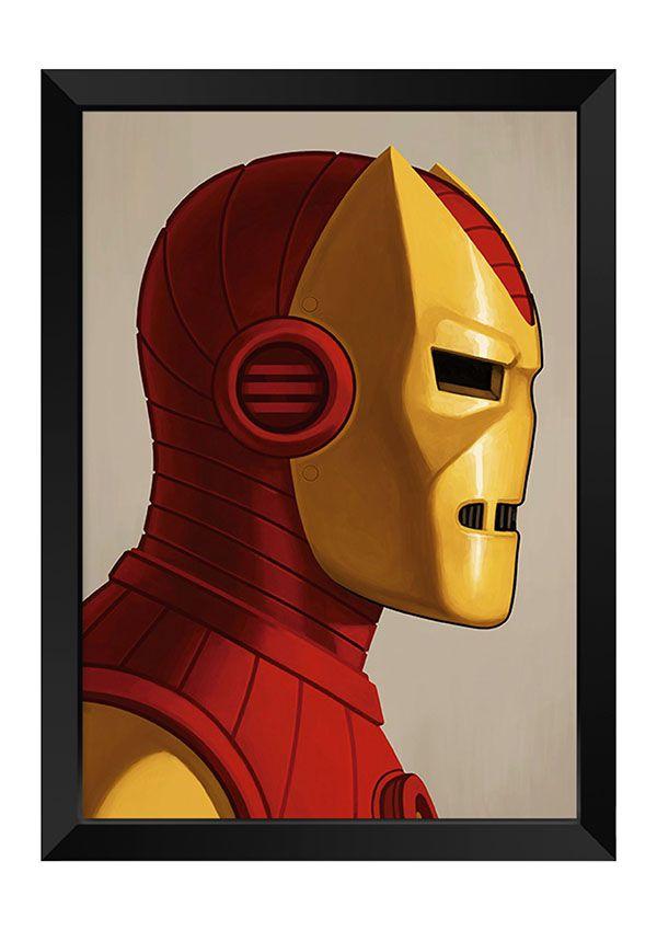 9273b53708 Quadro - Homem de Ferro Poster. Código  MK037. Quadro - Homem de Ferro  Poster