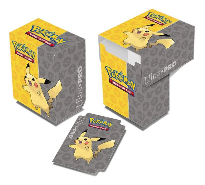 DECK BOX PORTA CARTAS POKEMON PIKACHU ORIGINAL