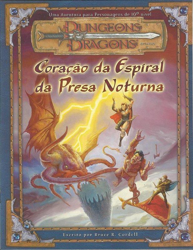 DUNGEONS & DRAGONS CORAÇÃO DA ESPIRAL DA PRESA NOTURNA LIVRO RPG