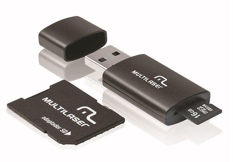 MICRO SD 16GB 3 EM 1 MULTILASER MC112 C/ ADAPTADOR SD E PEN DRIVE