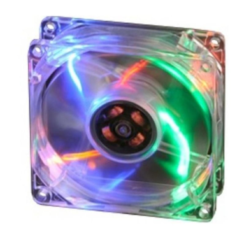 COOLER FAN AKASA LED COLORIDO 80MM 8CM AK-170CC-4RAS NOVO P/ GABINETE