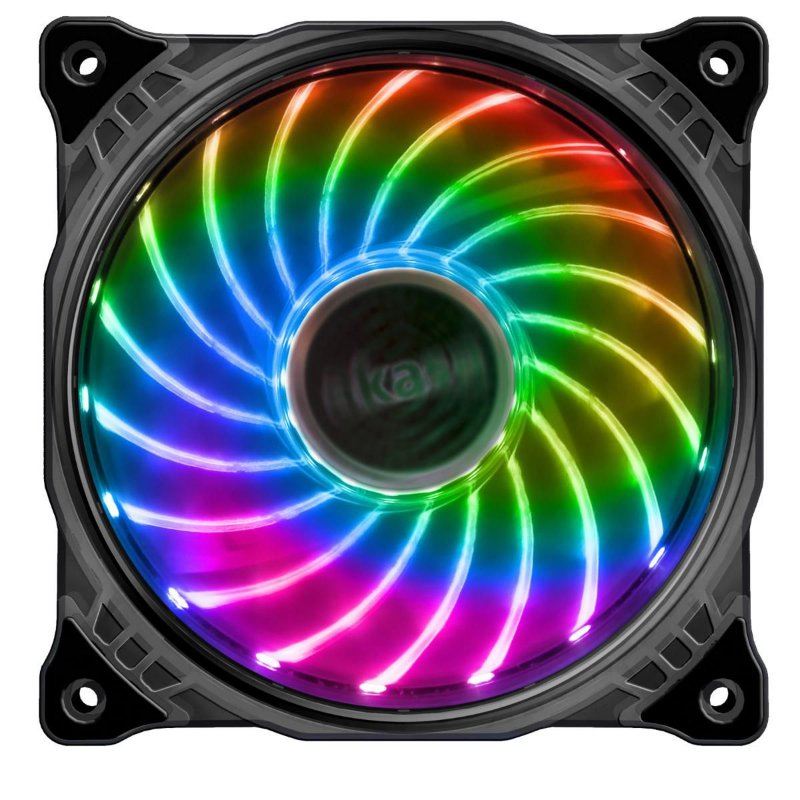 COOLER FAN LED 7 CORES 120MM 12CM AKASA VEGAS 7 AK-FN092 P/ GABINETE