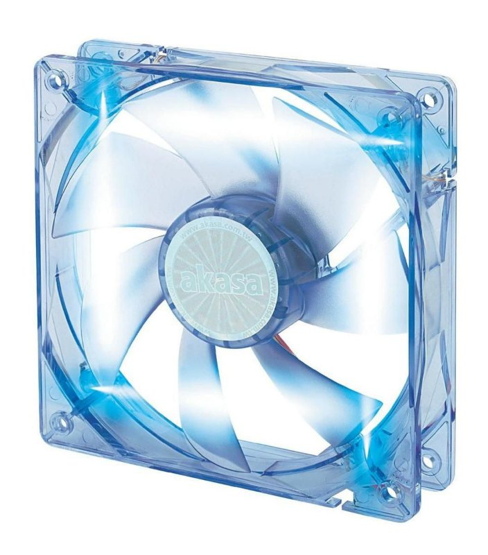 COOLER FAN AKASA LED AZUL 120MM 12CM AK-174CB-4BLS  NOVO P/ GABINETE