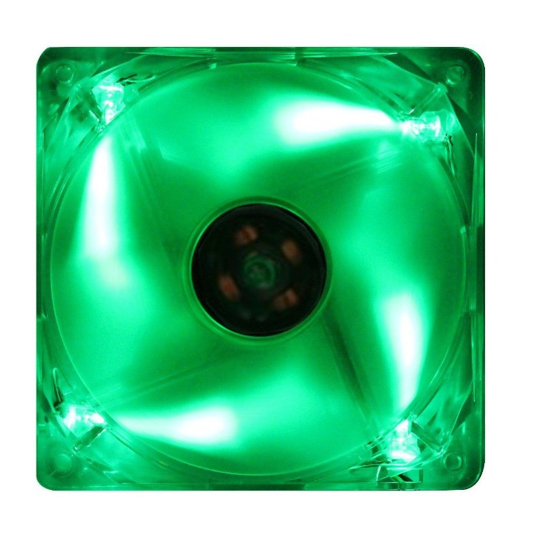 COOLER FAN AKASA LED VERDE 120MM 12CM AK-174CG-4GNS NOVO P/ GABINETE