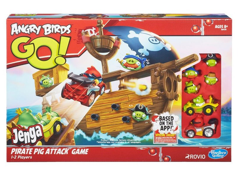 JOGO ANGRY BIRDS GO JENGA ATAQUE PIRATA HASBRO