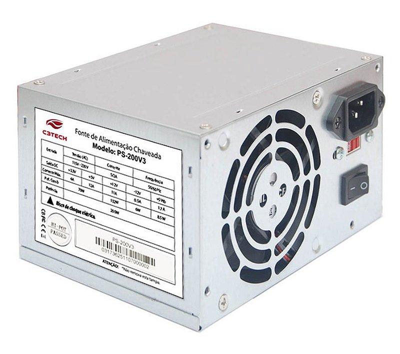 FONTE ATX C3TECH PS-200V3 200W BIVOLT