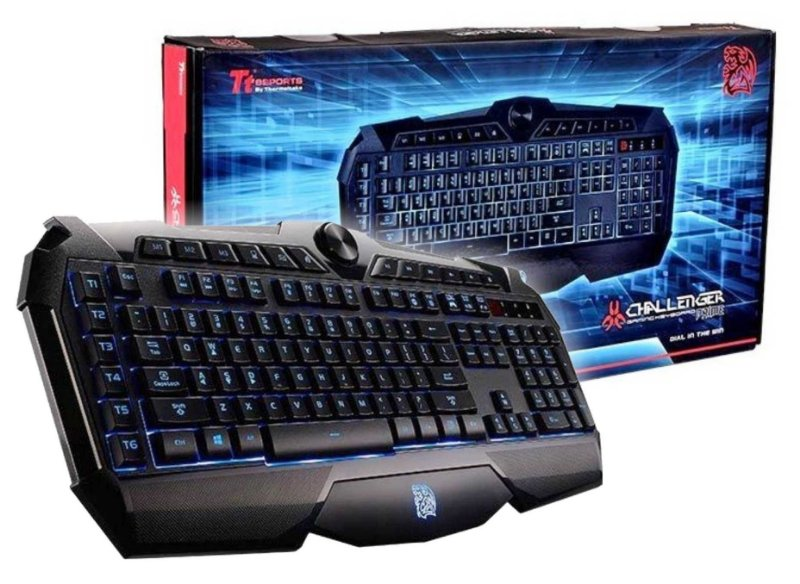 TECLADO GAMER THERMALTAKE CHALLENGER PRIME ABNT2 LED 3 CORES MACRO ANTI-GHOST