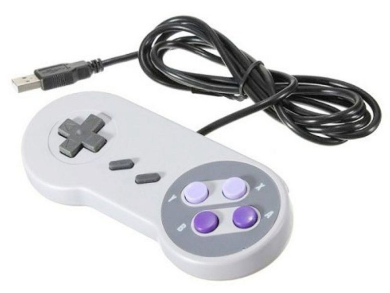 CONTROLE USB ESTILO SUPER NINTENDO FEIR CR-008 PC RASPBERRY