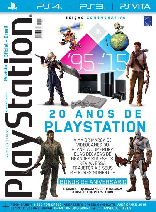 20 ANOS DE PLAYSTATION REVISTA OFICIAL EDIÇÃO 213