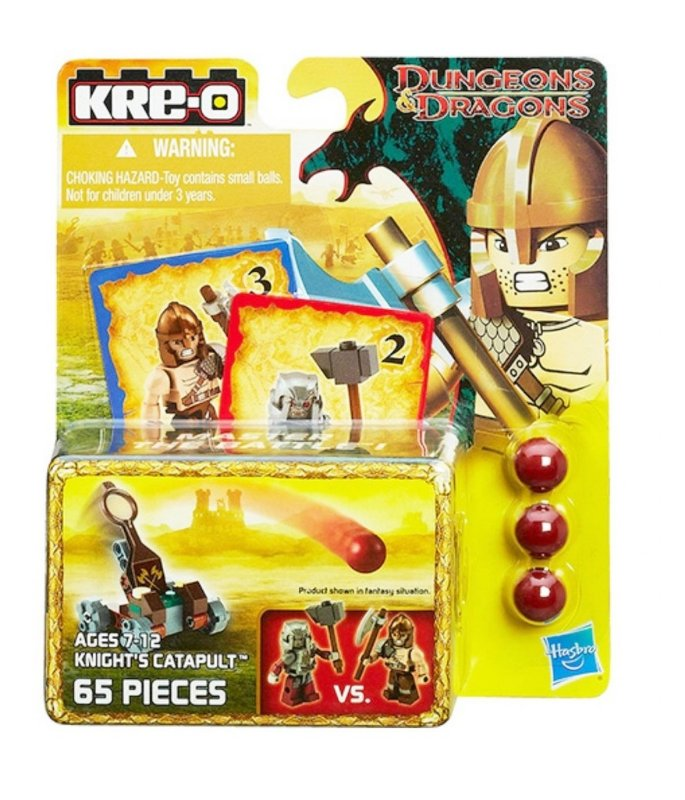 DUNGEONS & DRAGONS ESTILO LEGO KRE-O CATAPULTA DE CAVALEIRO HASBRO
