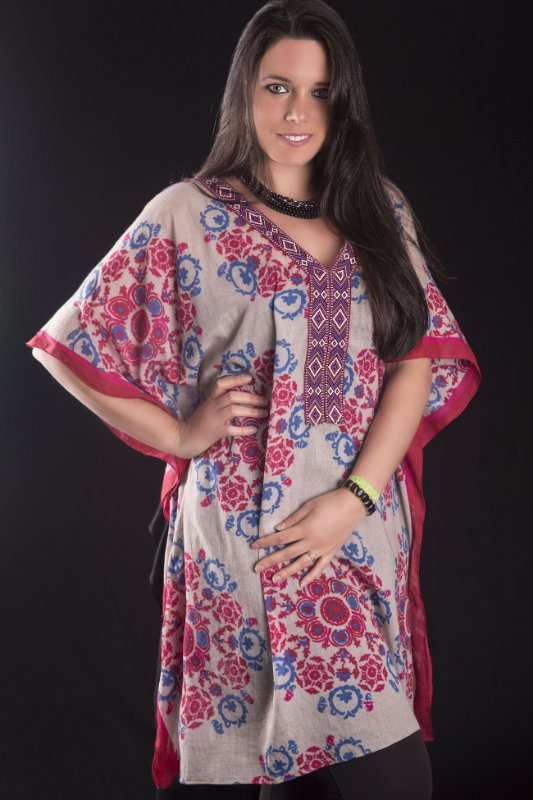 Tunica estampada floral plus size