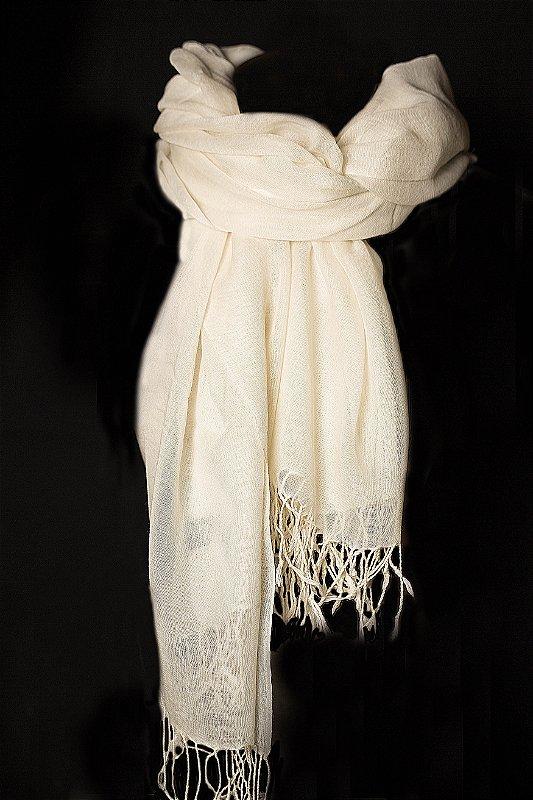 Pashmina off white lã da Kashmira - lote mínimo de 5 peças