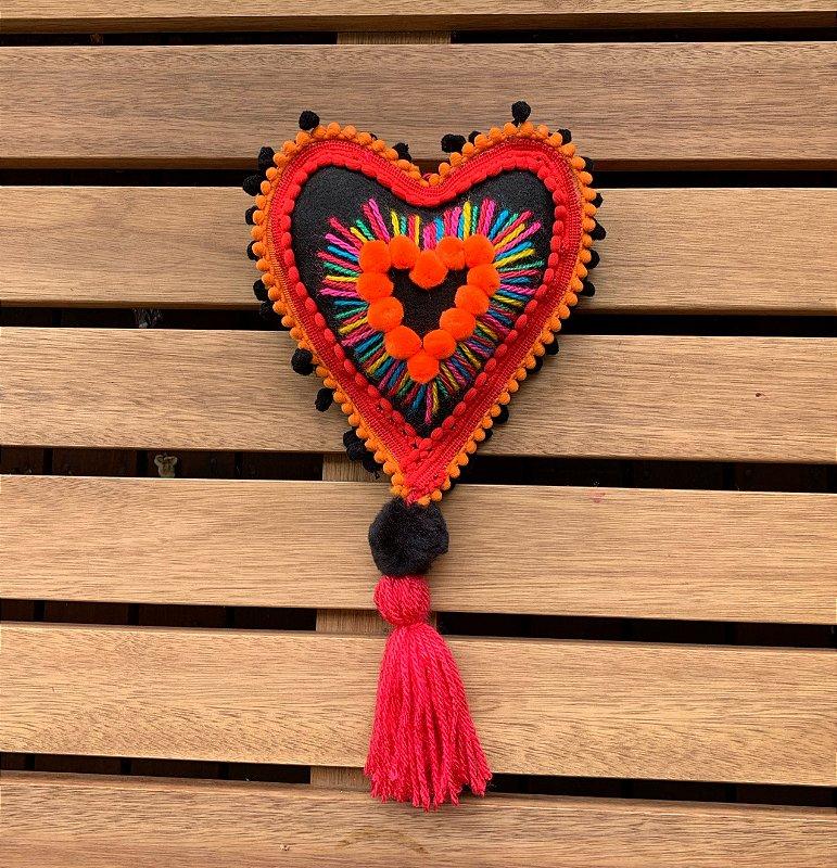 Coração Black coleção Frida Corazon