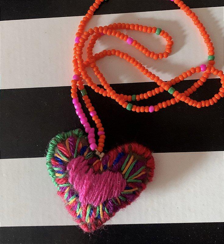 Colat Heart Boho  Orange