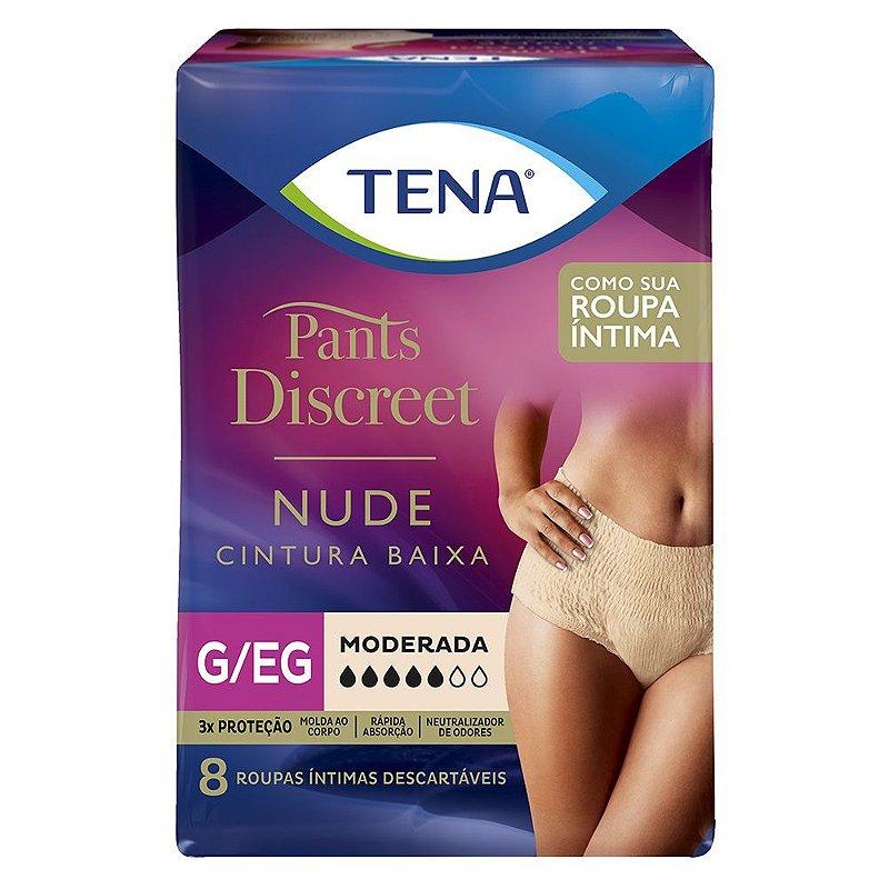 ROUPA ÍNTIMA TENA PANTS DISCREET NUDE - Fraldas Geriátrica