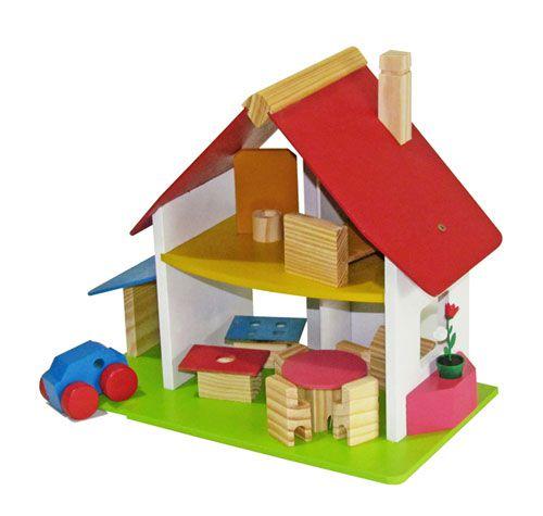 CHALE COM GARAGEM - Casa Casinha de madeira
