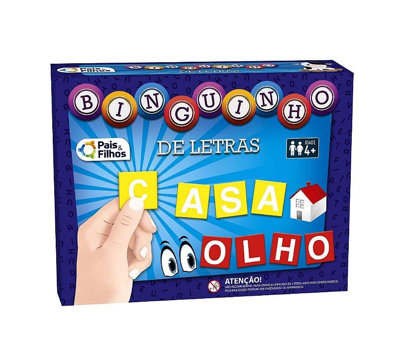 Binguinho de Letras - Bingo alfabético
