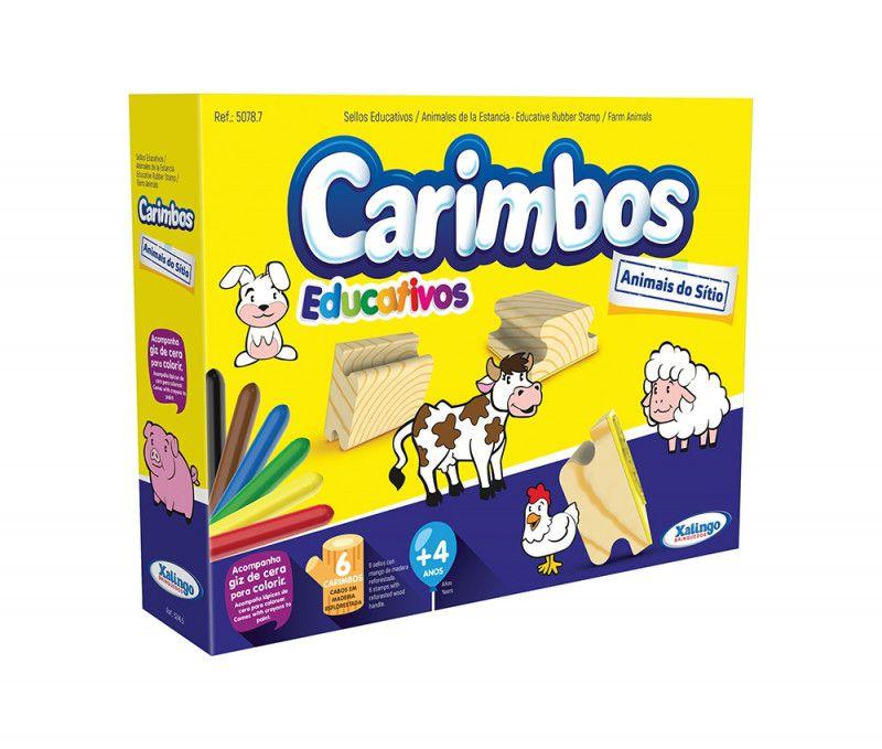 CARIMBOS EDUCATIVOS ANIMAIS DO SITIO