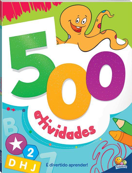 500 ATIVIDADES (Verde) para meninos e meninas de 3 anos ou mais