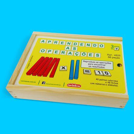 Aprendendo As Operações - aprender matemática - Carimbras - educativo