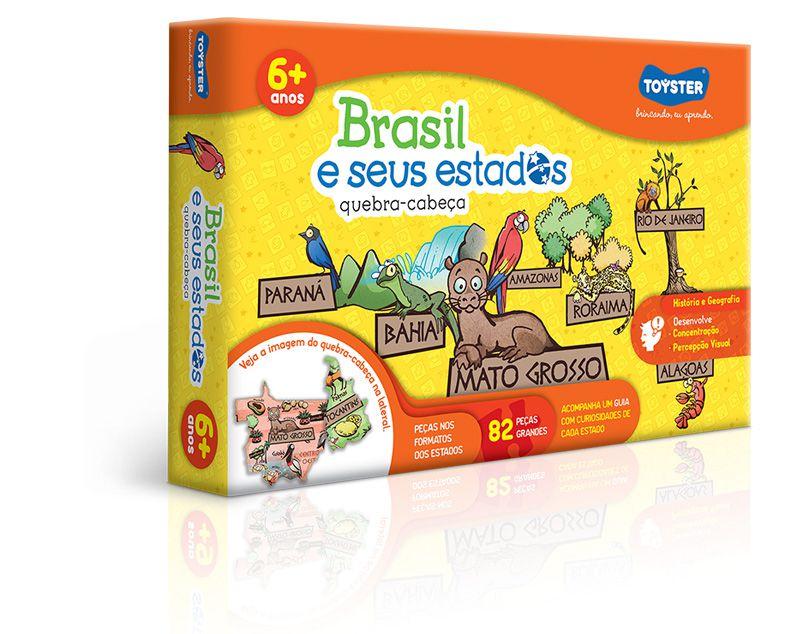 BRASIL E SEUS ESTADOS - Quebra Cabeça 82 peças