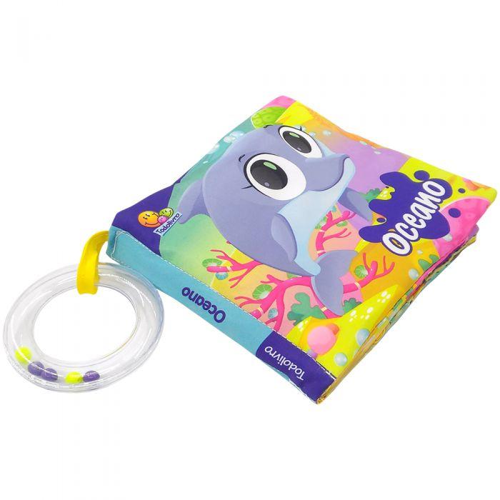 Livro de Pano para Bebês OCEANO - um toque de carinho, estímulo e diversão.