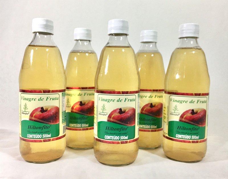 VINAGRE NATURAL DE FRUTA MAÇÃ HILTONFITO - 500 ml.