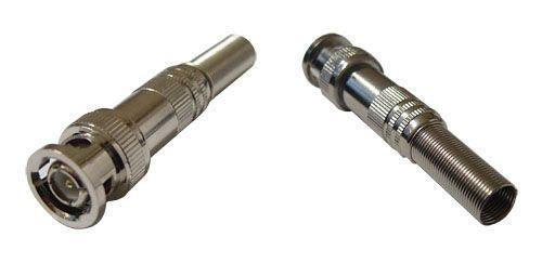 Conector BNC com mola parafuso