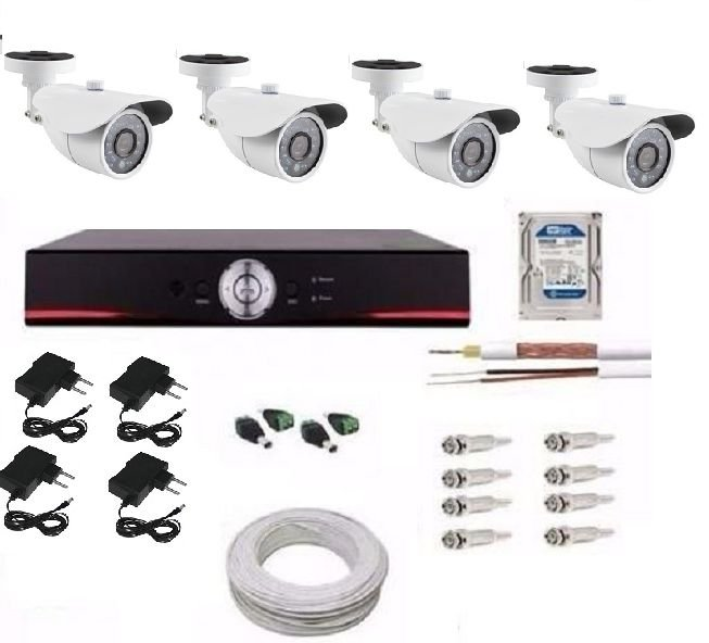 KIT DVR 4 CANAIS AHD PAL-M